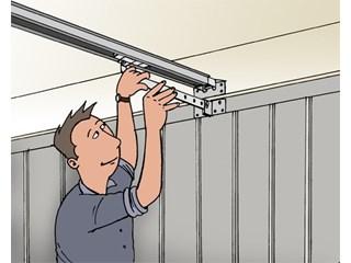 Porte basculante de garage le volet menuiserie en aluminium for Porte enrouleur garage